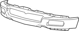 New OEM Front Bumper 06-08 Ford F-150 6L3Z-17757-DAPTM