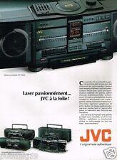 Publicité advertising 1989 Chaine Hi-Fi Portable JVC