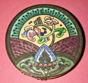 Imperial Russian Kokoshnik cloisonne silver/enamel box Lebedkin Moscow c1898