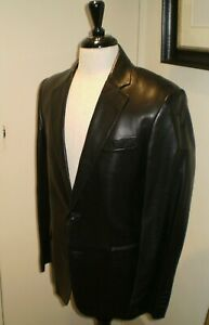 Black Label Ralph Lauren  Leather Jacket made in Italy