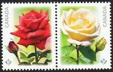 ROSES = Se-Tenant pair from Souvenir Sheet MNH Canada 2014 #2727i