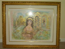 "Large Edna Hibel-Original Stone Lithograph 31/107  ""La Tosca""  REDUCED PRICE"