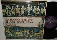 SET 367 Verdi Nabucco Highlights Suliotis Gobbi Cava Vienna State Opera Gardelli