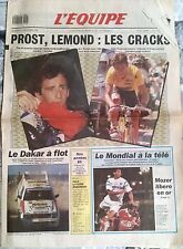 L'Equipe Journal 27/12/1989; Paris-Dakar/ Prost, Lemon; les Cracks/ Mondial TV