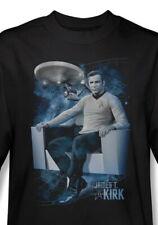 Star Trek The Original Series Captain Kirk in Captain's Chair T-Shirt NEW UNWORN
