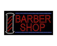 New Led Barber Shop Sign Lights Animated Sign Hair Cut Salon Spiral Neon Flash