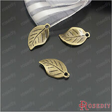 (24294)50PCS 18*11MM Antique Bronze Zinc Alloy Leaves Charms Jewelry Findings