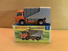 Vintage Matchbox Superfast No. 7 Ford Refuse Truck With Box