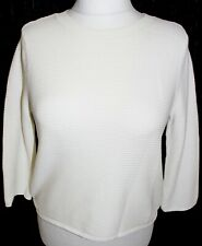 OASIS Woman's White 3/4 Lengths Short Top Size Medium UK 12-14