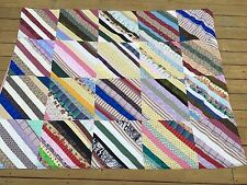 QUILT Bedspread HANDMADE Striped Multicolor Throw Twin Size