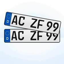 2 Stück kurze EU Kfz-Kennzeichen + 460 x 110 mm + Nummernschilder #3