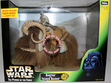 Star Wars Potf Bantha & Tusken Raider In Window Box Kenner 1998 Mint In Box