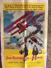 Von Richthofen and Brown 1971 27x41 Orig Movie Poster  Don Stroud 71/186