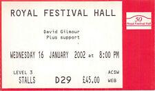 PINK FLOYD - DAVID GILMOUR 3 TICKETS TOUR 2002 LONDON
