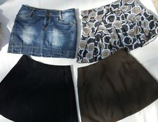 Mini Rock Set 4 Orsay Pimkie Sublevel XS 32 34 schwarz kurz jeans khaki wickel