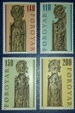 Travelstamps:1980 Faroe Islands Sc#55-58 Coat Arms VirginChild Gothic Pew Gable