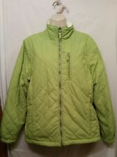 FREE COUNTRY Reversible Women's SZ. Large L Green/Quilted Ivory/Fleece Jacket