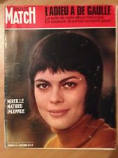 Paris Match du 5 Decembre 1970 Adieu a De Gaulle / Mireille Mathieu