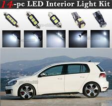 14-pc White Canbus LED Interior Light Bulb Package Kit Fit 2006-2009 VW Golf GTi