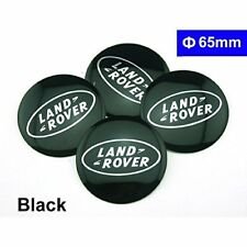 4X LAND ROVER BLACK 65MM WHEEL CENTER CAPS STICKER LR4 LR3 SPORT RANGE DISCOVERY