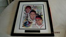 Stan Musial,Terry Moore & Enos Slaughter Group Signed & Framed Print/Photo -JSA
