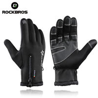 ROCKBROS Winter Bike Gloves Thermal Warm Full Finger Cycling Gloves Touch Screen