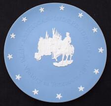 "Vntg Wedgwood Blue Jasperware American Infependence-Victory at Yorktown 8"" Plate"