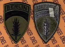 US Army Berlin Brigade OD Green & Black BDU uniform patch m/e