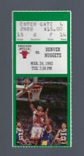 VINTAGE 1992 NBA CHICAGO BULLS TICKET STUB MICHAEL JORDAN 50 POINTS GREEN MAR24