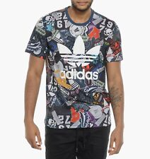 Adidas Originals Badge T Shirt Navy Size Small (XS)