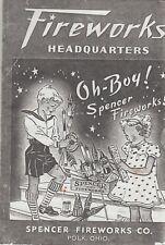 1938 Spencer Fireworks Firecracker Catalog Reprint Polk, Oh
