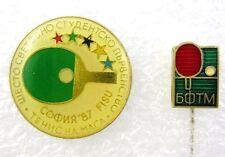 FISU World University Table Tennis Championships 1987 Set of 2 Pins Badges