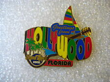 HOLLYWOOD,FL,HOTEL,Hard Rock Cafe Pin, Greetings From