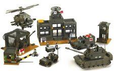 Sluban Military Battle Headquarters Tank & Figures Army Construction brick B7100