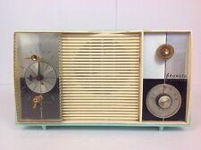 Vintage Phonola By Electrohome Alarm Tube Radio Teal Plastic