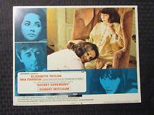 "1968 SECRET CEREMONY Original 14x11"" Lobby Card #1 3 4 5 VG+/FN Elizabeth Taylor"