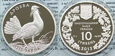 RARE 2013 Ukraine 10 UAH PROOF 1 OZ Silver Great Bustard-box-mintage 5000