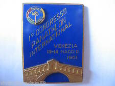 DISTINTIVI VENEZIA 1° CONGRESSO PANATHLON INTERNATIONAL 1961 PANATHLON BADGES