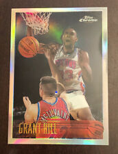 Grant Hill Refractor 1996-1997 Topps Chrome #100 Gorgeous Condition