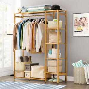 Open Wardrobe Clothes Rail Rack Hanging Garment Heavy Duty Organizer Coat Shelf