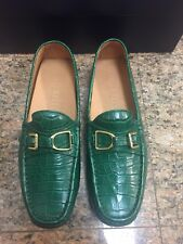 Limited Edition Ralph Lauren Genuine Crocodile Green Driving Shoes NIB