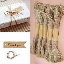 10m/1PC  Brown Jute Rope Ribbon Bakers Shabby Wedding Party Gift Wrap DIY Decor