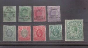 Somaliland Protectorate Small early mint collection
