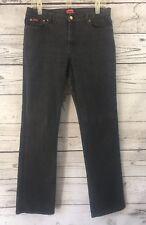 Chaps Denim Size 10 Black Wash Straight Leg Jeans Women's Stretch