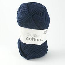 Rico Creative Cotton DK - 100% Cotton Knitting & Crochet Yarn - Dark Blue 013