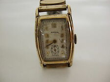 Antique, 1930's Norbal Mens Watch, Swiss, Self wind, 15 Jewels, Gold filled.