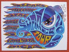 "2016 phish summer tour sticker by kerrigan 3""x4"" all weather"
