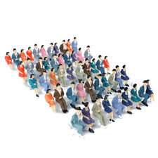 50 pcs. Sitting Plastic Figures 1:32 Miniture People Human People Painted Mixed