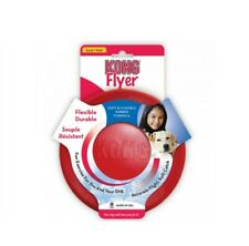 KONG Dog Flyer Frisbee Rubber Disc, Fetch Dog Toy, Red Small