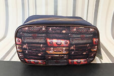 TED BAKER Genuine SUIT CASE Print Canvas Weekend Sports toiletry Wash Bag BNWT